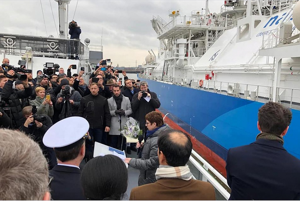 Christening ceremony of the world's largest LNG bunker supply vessel #KAIROS at the #Port of Hamburg.