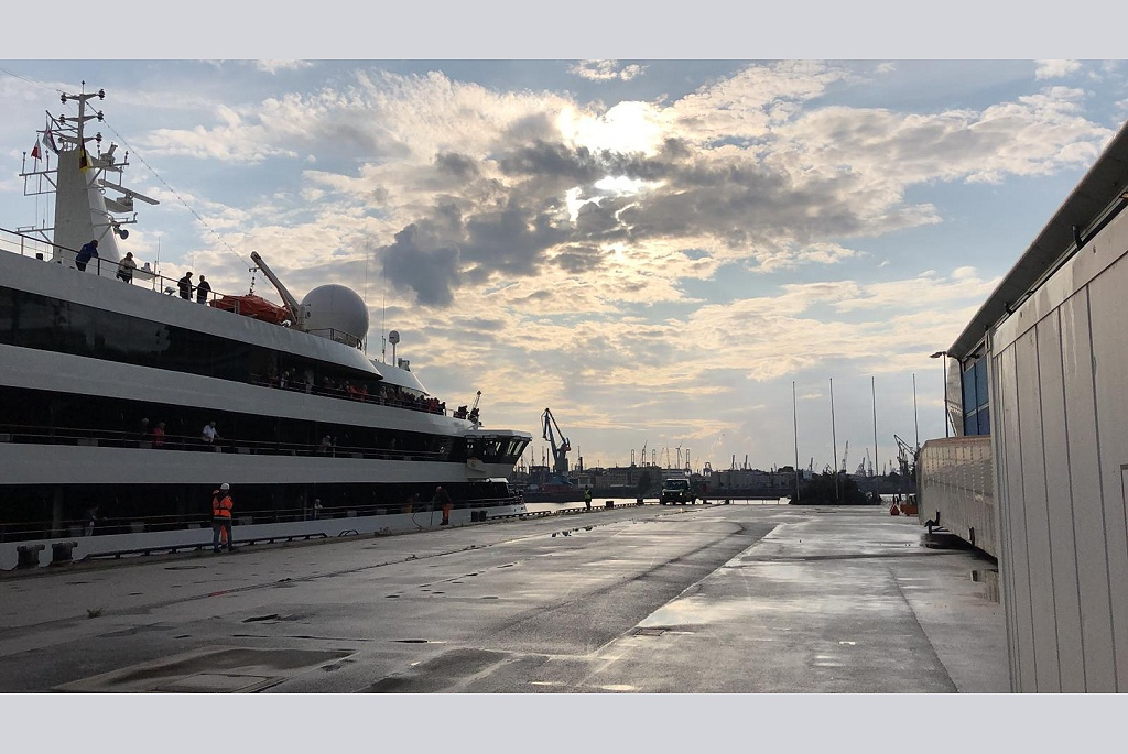 WELCOME #WorldExplorer! Maiden call in the #PortofHamburg at our #CruiseCenterHafenCity.